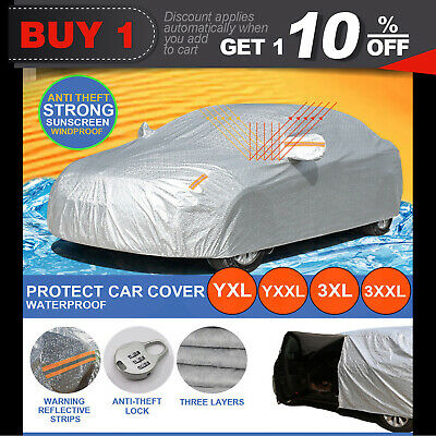 Aluminum waterproof Double thicker car cover rain resistant UV dust car cover
