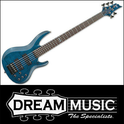 ESP LTD LB-155DXSTB Bass Guitar 5-String B-155 Flame See Thru Blue RRP$949