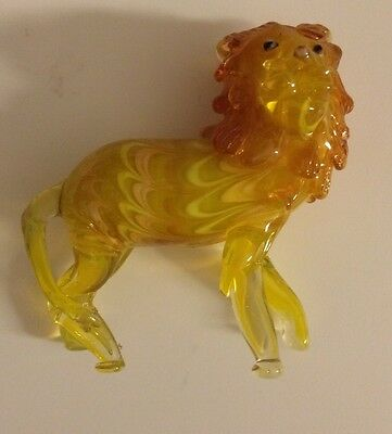 Fitz & Floyd Lion Glass Menagerie Figure Rare Collectible 2004 With Box