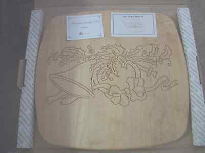 Longaberger 1993 Homecoming Hostess Engraved ChristmasThemeWooden Lid New In Box