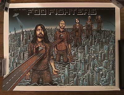 Foo Fighters Citi Field 2015 Poster Nyc Emek Signed Lmtd #358/400 Mets Grohl