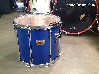 """16"""" Pearl MLX Tom Drum All Maple Shell SHEER BLUE 14x16 MOUNTED"""