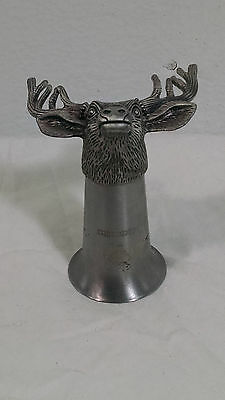 Jagermeister Moose Deer  Shot Glasses Glass Copitas Stainless Steel Metal