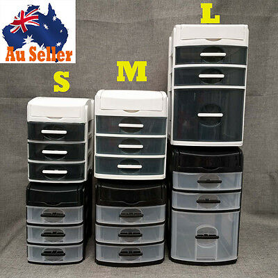 3 Tier Mini Desktop Storage Draw Unit Craft Drawer Storage Hobby Stationery SML