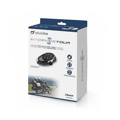 Interphone Tour Bluetooth Motorcycle Intercom Kit - Single Pack
