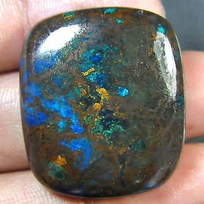 D10@ 62.60 Cts 100%Natural firoza chrysocolla cushion cabochon gems to jewelry