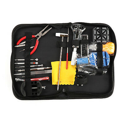 13pcs Watch Repair Tool Kit Band Holder Back Case Wrench Opener Link Pin Remover