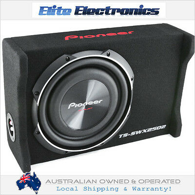 "Pioneer Ts-Swx2502 10"" Loaded Shallow Mount Enclosure Subwoofer Flat Box Sub Car"