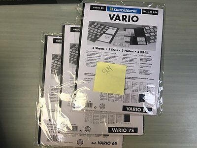 SU04) VARIO PAGES- 1 TO 8 STRIPS. Your pick of any size. 6 packages per order
