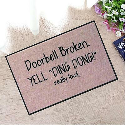 Funny Welcome Doormat Indoor Outdoor Rubber Floor Mat Non Slip Entrance Rug New