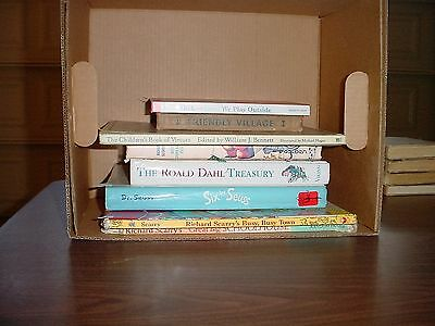 Eight Assorted Children's Books, Richard Scarry, Dr Seuss, Dick and Jane