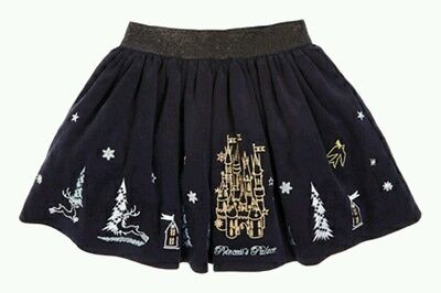 Girls Navy Blue Princess Palace Corduroy Party Skirt Age 6 Autumn/winter