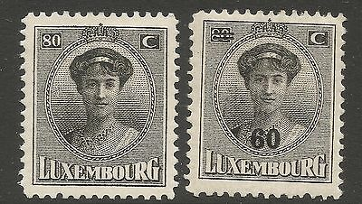 Luxembourg Stamps #s 148 & 158 Used  f19