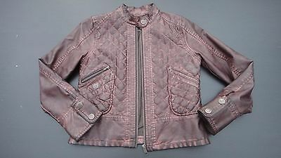 Girls Next Brown Faux Leather Jacket Age 9-10 Years