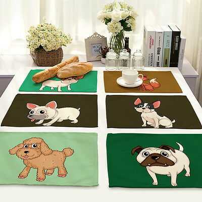 Animal Pattern Tableware Placemats Insulation Kitchen Dining Table Coasters