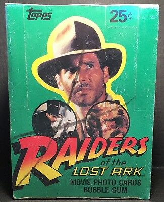 1981 Topps RAIDERS OF THE LOST ARK Photo Cards FULL Box of 36 Sealed Packs