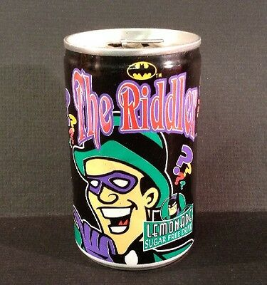 1998 Britvic Soft Drinks 150ml Empty Can Featuring The Riddler From Batman (171)