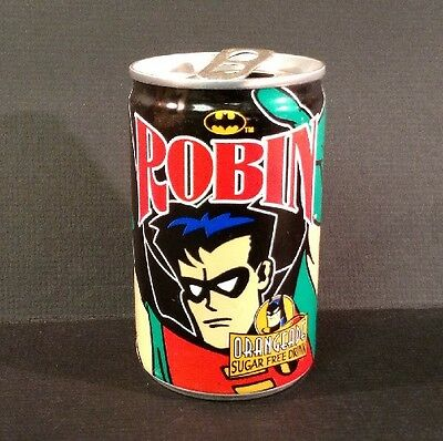 1998 Britvic Soft Drinks 150ml Empty Can Featuring Robin From Batman (172)