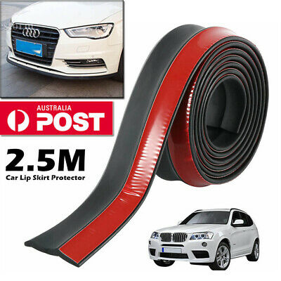 2.5M Car Front Bumper Splitter Body Spoiler Lip Skirt Protector Rubber Universal