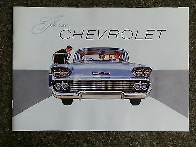 1958 Chevrolet (Biscayne)  Sales Brochure. 100% Guarantee