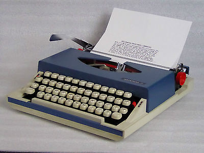 1971 Imperial Gemini Radio / Typewriter in Superb condition New ribbon, 3 spares
