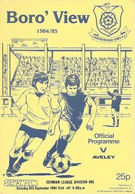 Farnborough Town V Aveley  84/85.