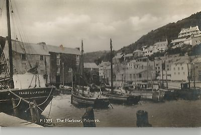 Polperro The Harbour Boats Old Cornwall   Postcard  Real Photo
