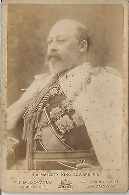 Victorian Cdv  Royal Photograph  Old By W & D Downey King Edward Vii Others On