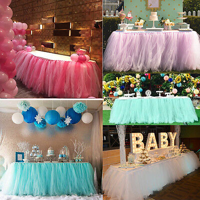 New Tulle Tutu Table Skirt For Wedding Birthday Bridal Baby Shower Party Decor