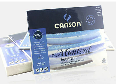 Canson Montval aquarelle 300gsm watercolor paper 12 sheets painting book