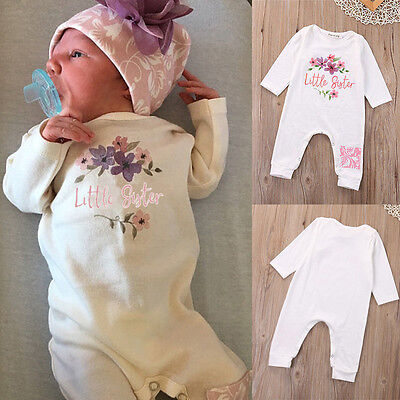 One-Piece Infant Baby Girls Kid Romper Long Sleeve Floral Jumpsuit Clothes 0-18M