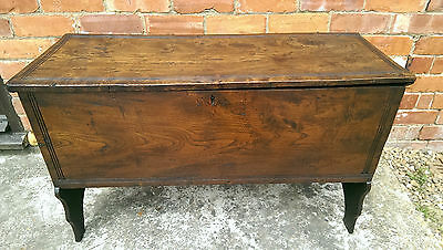 Early 1700's Elm 6 plank coffer / chest / blanket box /storage,  Antique