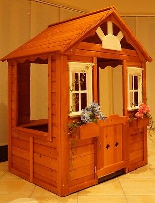 NEW Timber Wooden Cubby Play house pretend shop 1.48m (H) x 1.23m (W) x 1.02m