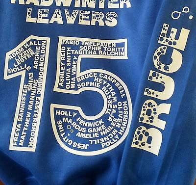 School Leavers Personalised Hoodie - Your Design!! Exc Quality and Price