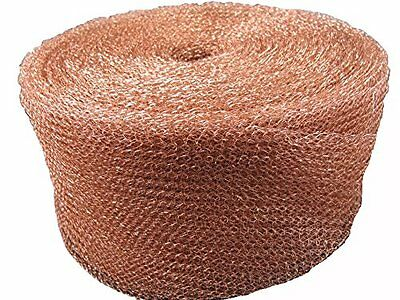 125mm Pure Copper Knitted Wire Mesh - Stuffit Mesh/Soffit Mesh - 1 Metre Unit