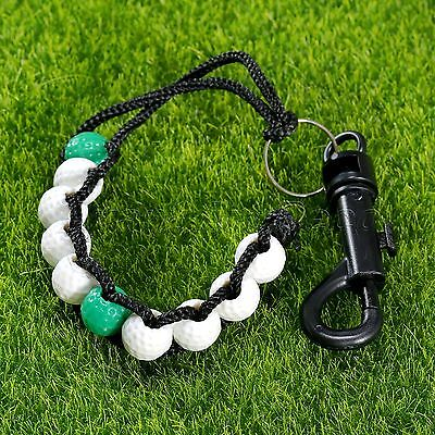 Beauty Golf Score Counter Keeper Stroke Shot Beads Chain Bracelet with Snap Clip
