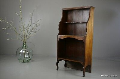 Antique Mahogany Waterfall Bookcase