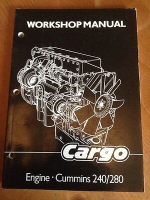 Ford Iveco Cargo Engine Cummins 240 280 Repair Workshop Service Manual Truck