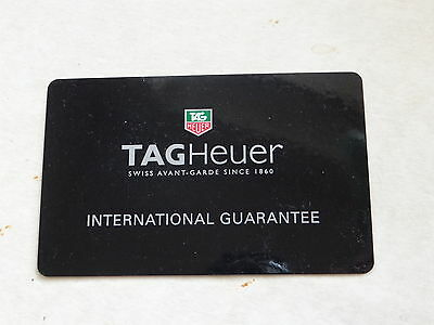 Stamped Tag Heuer Guarantee Card  For Collectors Use Only