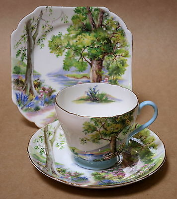 Vintage Shelley Woodland Trio Cup Saucer Plate