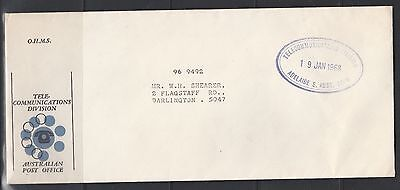 Telecommunications Division Australian Post Office Cover & Cancellation 1968 SA
