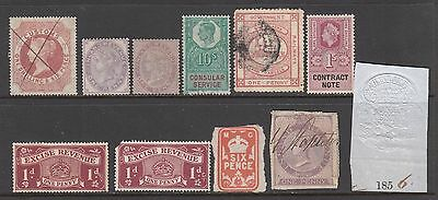 GB selection of REVENUE & Fiscal Railway stamps mint or used