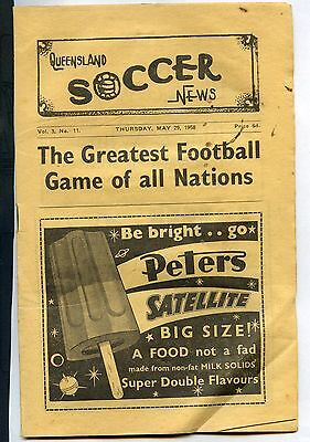 1958 Queensland Soccer News May 29th