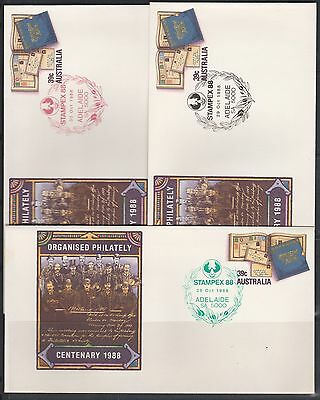 Stampex 88 Set of 3 Souvenir Covers Free Post Au