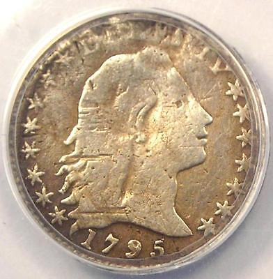 1795 Flowing Hair Half Dime H10C - ANACS F12 Detail (Fine) - Rare Certified Coin