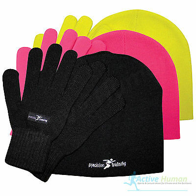 Precison Training Beanie Hat Glove set mens ladies women running cycling thermal