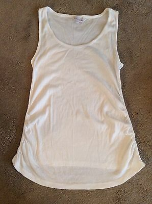 Maternity White Vest By Red Herring Size 14