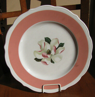 Syracuse China SALMON PINK Band Magnolia Dinner Plate Restaurant Ware Plate