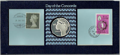 John Pinches 1976 Day Of The Concorde Hallmarked Silver Coin Set