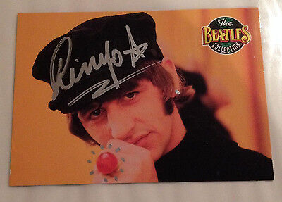 The Beatles / Ringo Starr / Genuine Autograph / Hand-Signed Card